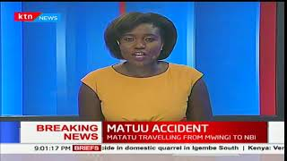 Five people confirmed dead in a tragic road accident in Matuu along Mwingi-Thika-Nairobi Highway