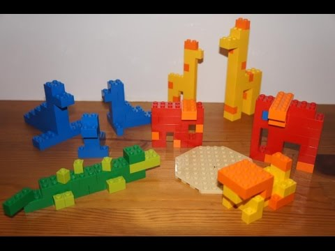Lego easy to build zoo animals pt 2 elephant tropical for Easy build bricks