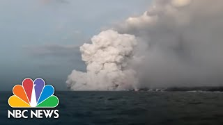'Lava Bomb' Showers Hawaii Tour Boat With Molten Rock, Injuring More Than 20 | NBC News