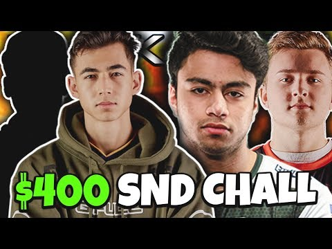 FaZe Attach & iLLeY vs OpTic Dashy & TJ (BLACK OPS 4 $400 2v2 SND)