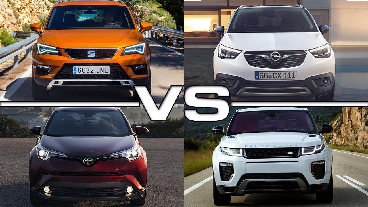 Seat Ateca Vs Opel Crossland X Vs Toyota C HR Vs Land