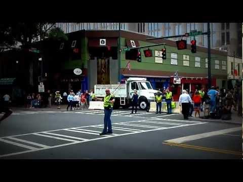 Dancing Traffic Cop Enjoying His Job During the DNC in Charlotte, NC