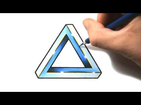 How to Draw a Penrose Triangle - Tattoo Design Style