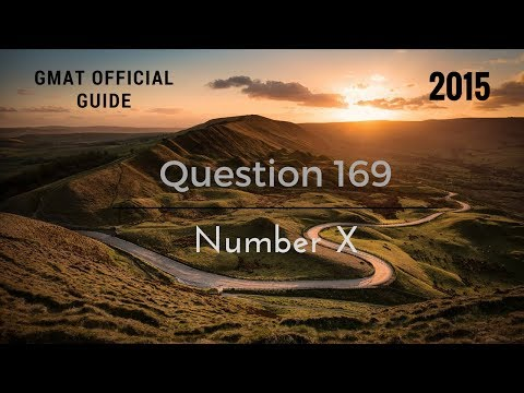 GMAT Official Guide (Number X) مســــائل مشهـــورة رقم 169