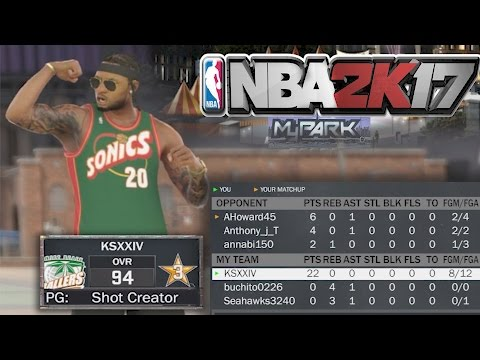 NBA 2K17 MyPARK - 21 POINT CHALLENGE!! DROPPED 22 POINTS! LEO ENDED HIS PARK CAREER!!