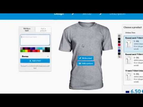 How to make money online by selling t shirts online on for Best website to sell t shirts