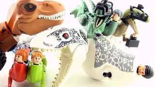 Jurassic World Lego Dinosaur Mutants with human DNA - Hybrid Dinosaurs minifigures Indominus