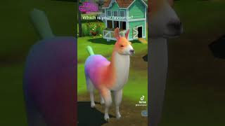 Colour Changing Llama In The Sims 4 Cottage Living #Shorts