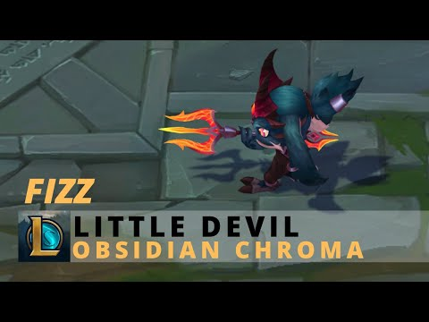 Little Devil Fizz Obsidian Chroma - League Of Legends
