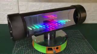 How To Make Boombox Bluetooth Speaker with infinity LED Use Pipe Plastic - DIY at home || NONC