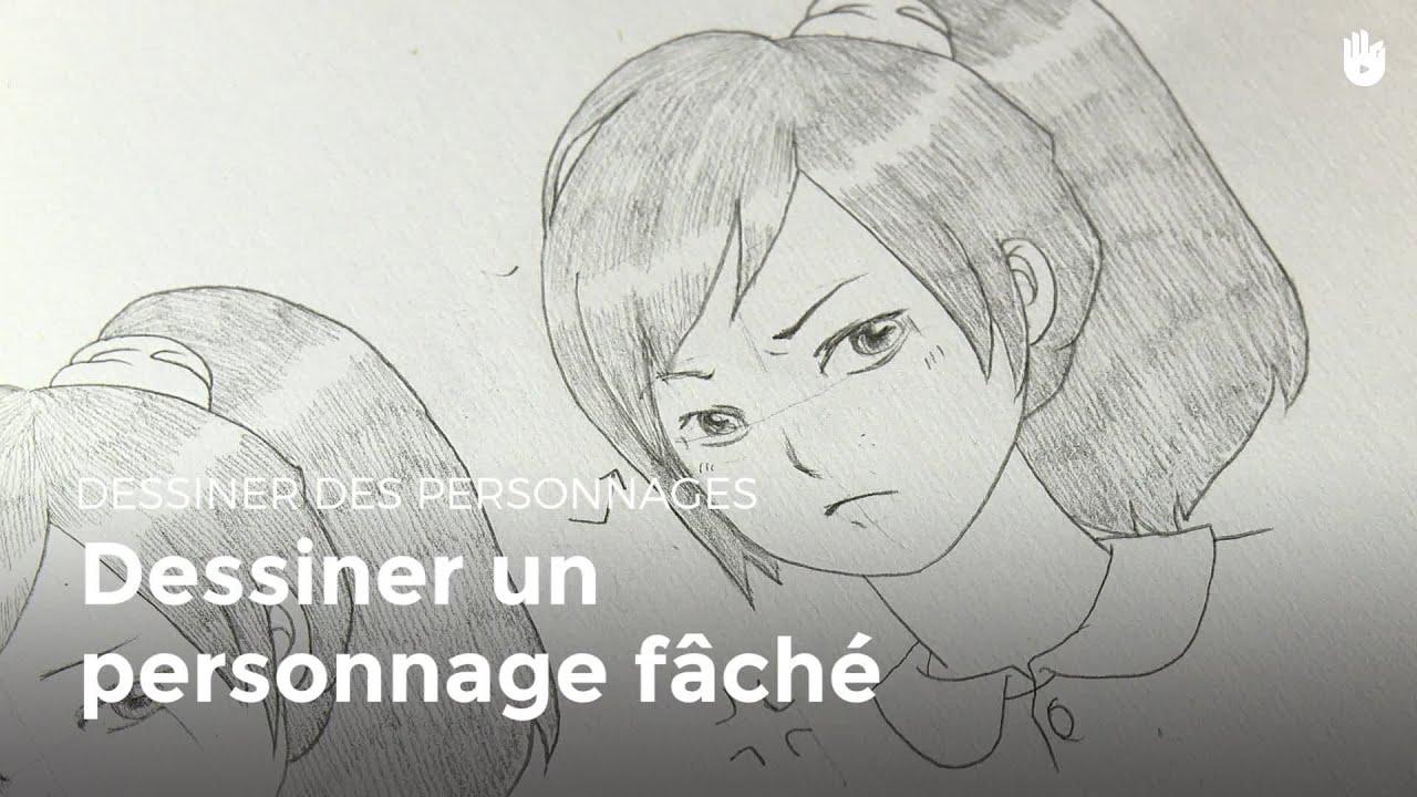Expression dessiner un personnage f ch apprendre dessiner youtube - Dessiner personnage manga ...