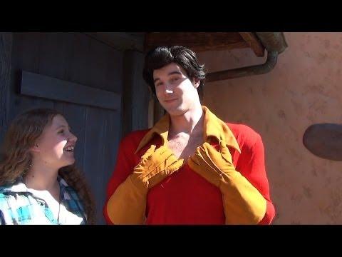 Gaston Meet and Greet Near Gaston's Tavern in New Fantasyland, Magic Kingdom at Walt Disney World