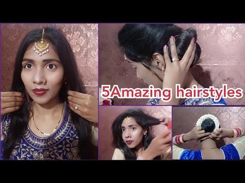 5 Amazing Wedding hairstyles | Must try it | #shaziyastyle
