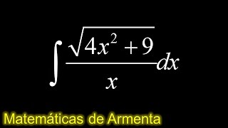 integracion por sustitucion trigonometrica ejemplo 10