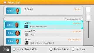 Wii U - eShop, Miiverse, and Friends List