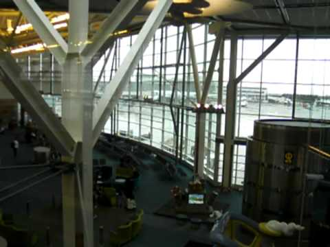Inside the Arrival area of the Vancouver International Airport  - YVR - January 2011
