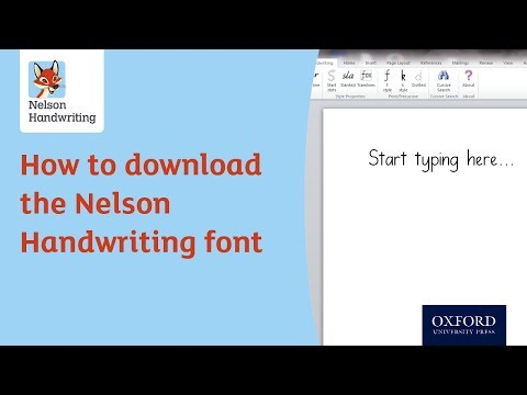 How to download the Nelson Handwriting font