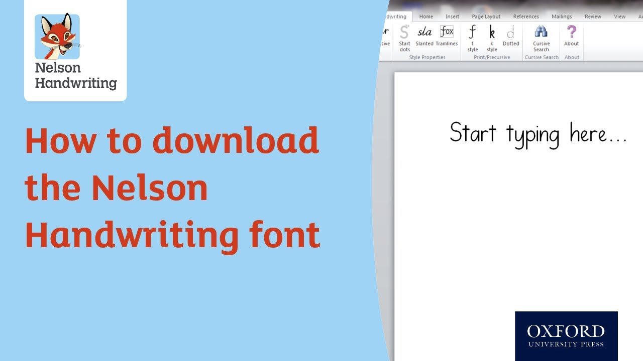 how to download the nelson handwriting font youtube. Black Bedroom Furniture Sets. Home Design Ideas