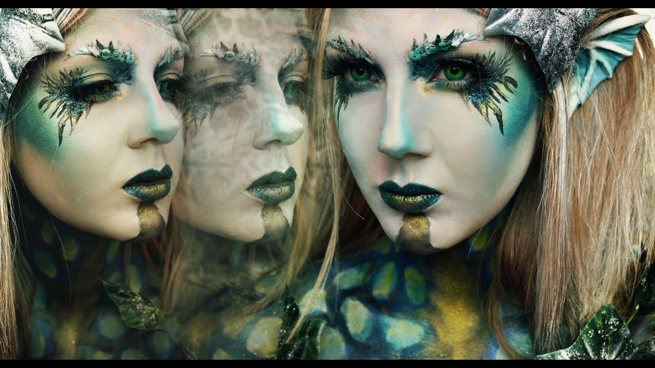 dark sirenmermaid halloween tutorial youtube