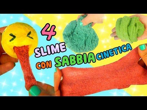 4 SLIME SABBIA CINETICA Fatti in casa (BELLISSIMI!!) Iolanda Sweets
