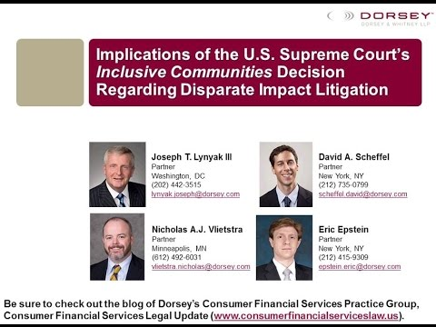 Webinar Playback: Implications of the U.S. Supreme Court's Inclusive Communities Decision