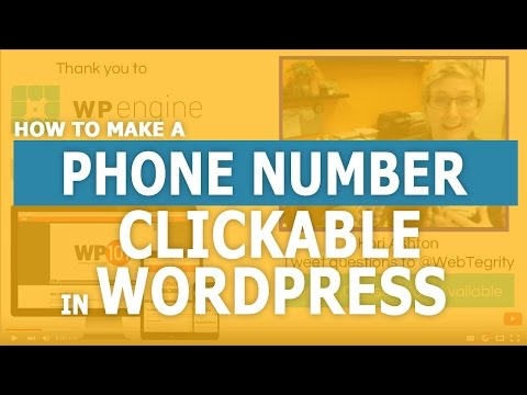 Make a Phone Number Clickable in WordPress