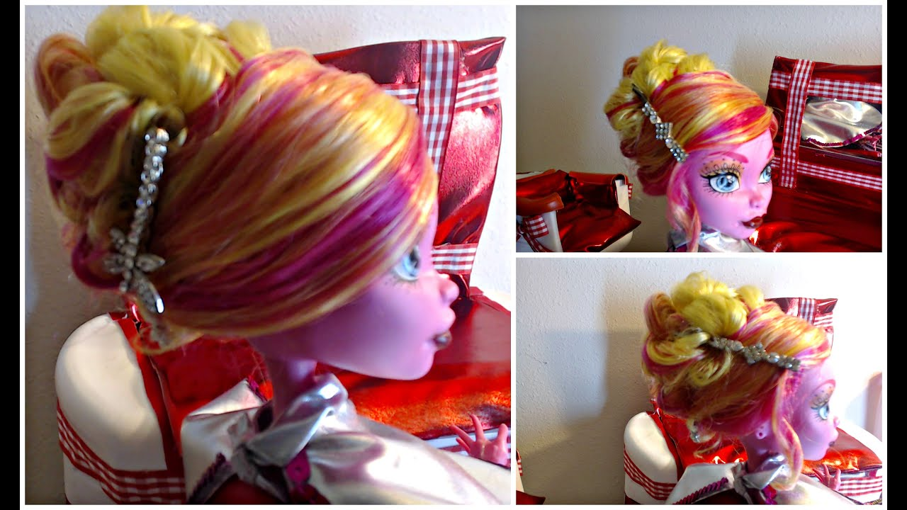 Cute dolls and girls hairstyles how to make an updo 17 inches cute dolls and girls hairstyles how to make an updo 17 inches monster high gooliope winobraniefo Image collections