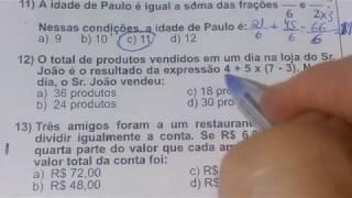 5 QUESTÕES DE CONCURSO MATEMÁTICA BÁSICA RESOLVIDA - MG (banca Ibfc)