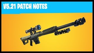 5 21 Patch Notes | Fortnite