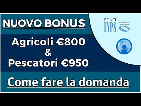 BONUS €800/950 Agricoli e Pescatori - Come fare la domanda