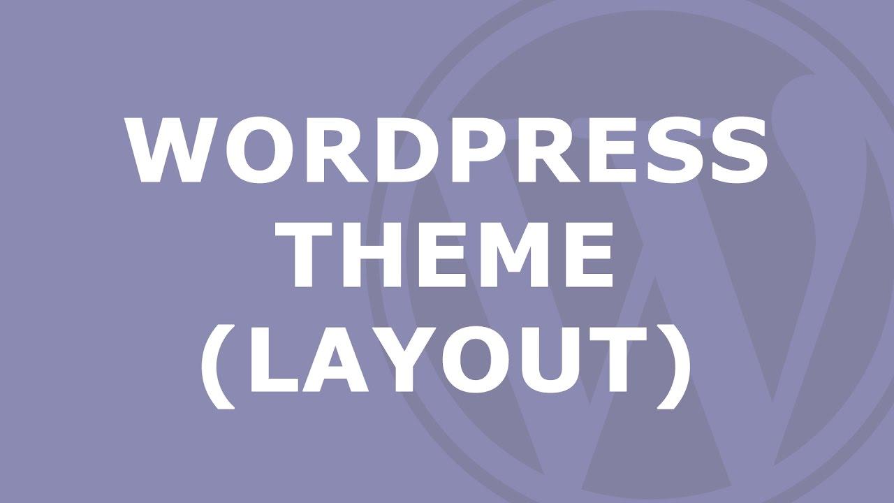 WordPress Theme - ändern und einstellen - YouTube