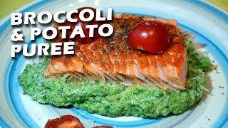 Филе форели на овощной подушке |FE| Trout fillet with broccoli-potato mash