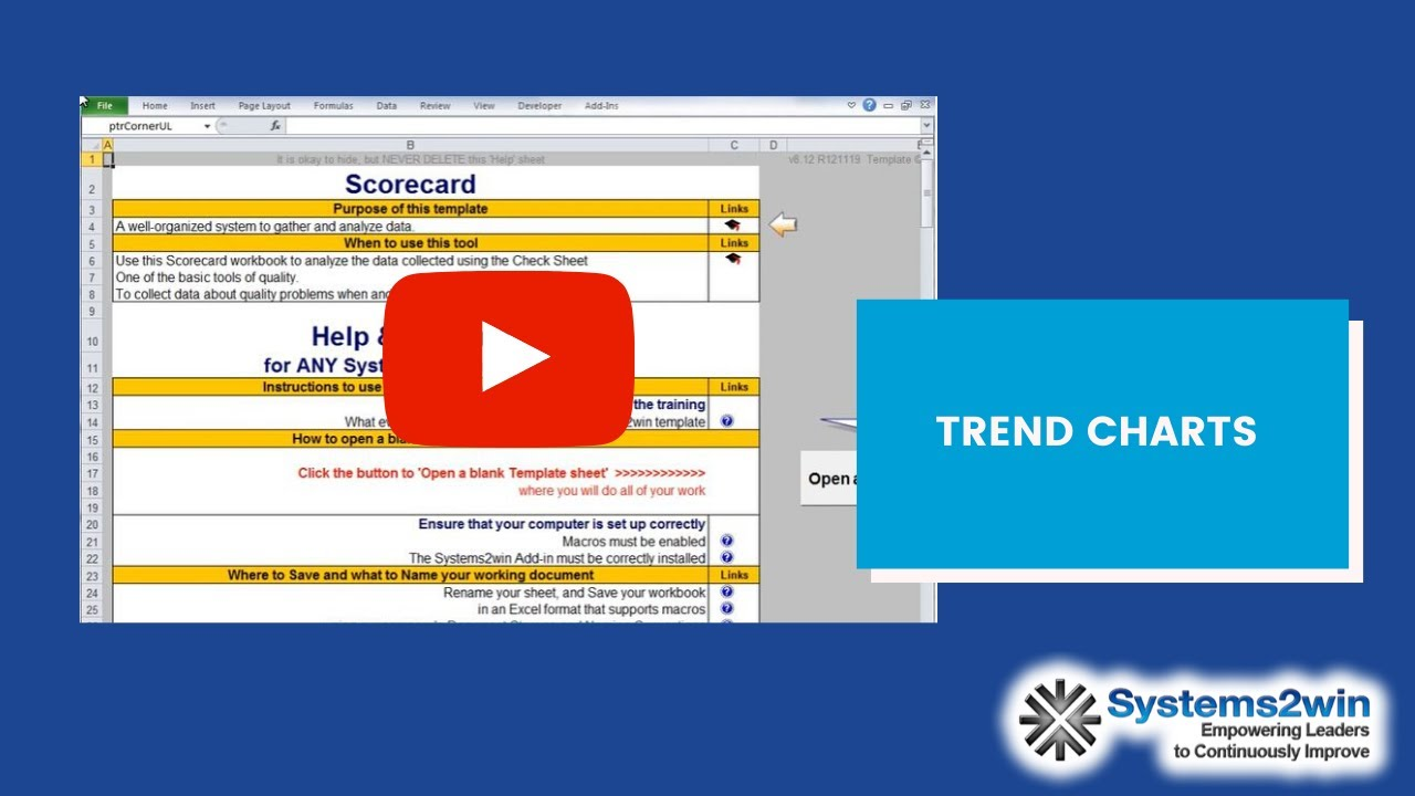 Scorecard excel template youtube 1betcityfo Choice Image