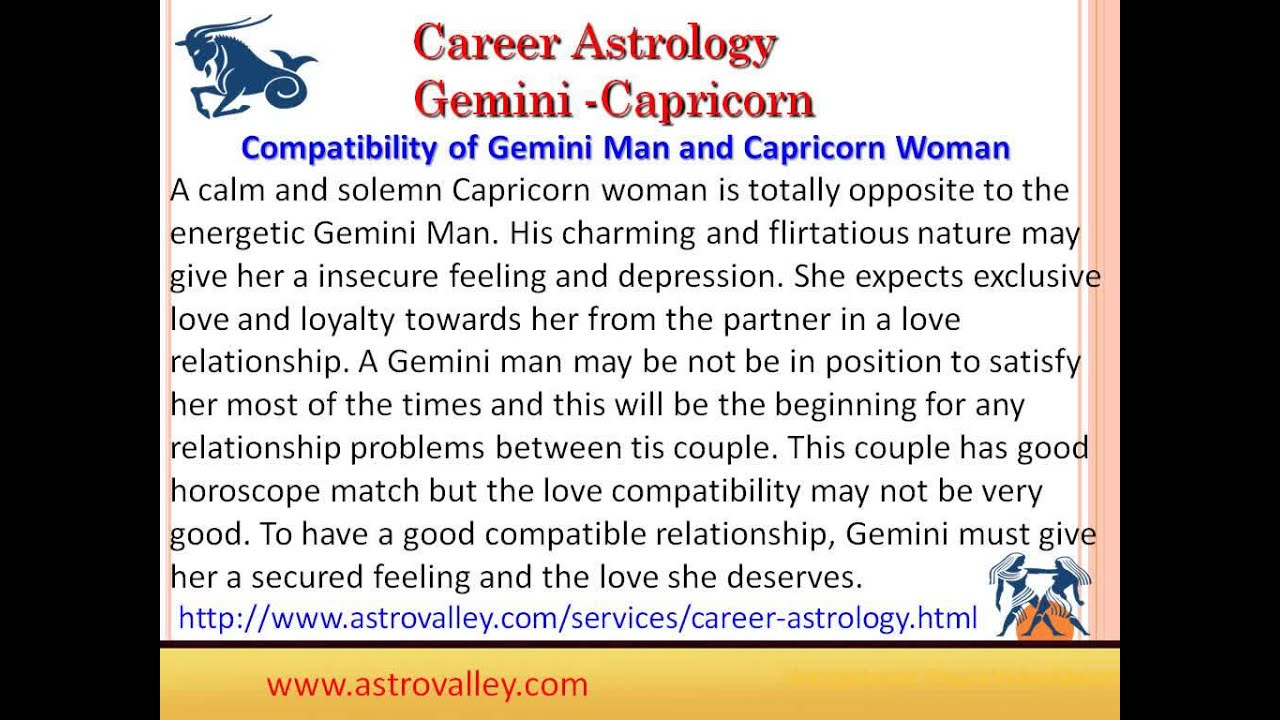 Woman Capricorn Compatibility Love Between Man And Gemini