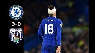 Giroud Head Injured | Chelsea vs West Brom 3-0 | PL 12/02/2018 HD
