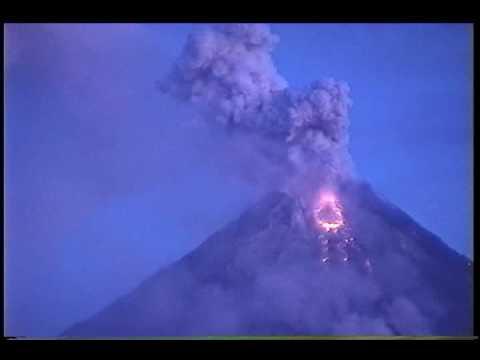 Mayon Volcano Eruptions - Drone
