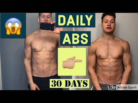 I trained ABS EVERY day for a month Results / How to get a 6 pack FAST