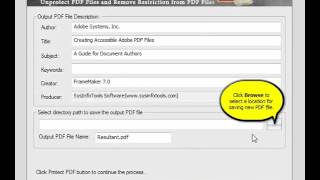 SysInfoTools PDF Restriction Remover