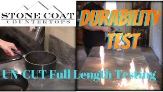 Stone Coat Countertops Durability tests