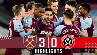 West Ham United 3-0 Sheffield United | Premier League highlights | Lingard helps Hammers down Blades
