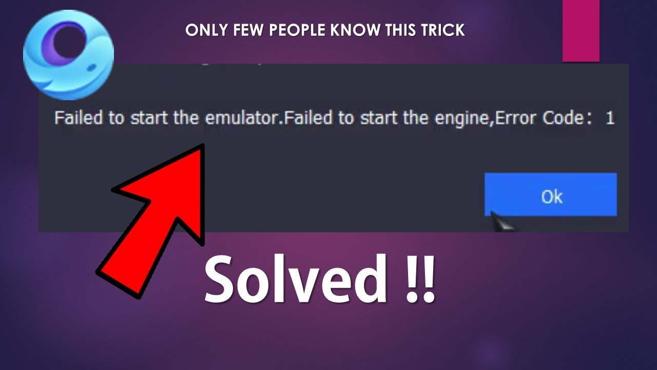 Failed To Start The Emulator  Failed To Start The Engine Issue On GameLoop  Solved