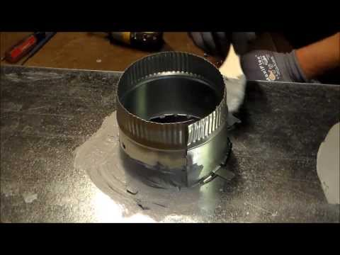 How to install a duct takeoff  start collar-The Sheet Metal Kid