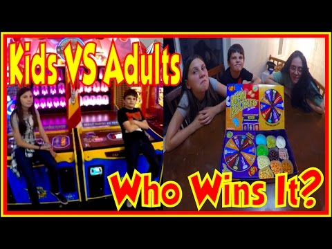 💀 Kids VS Adults | Arcade Ticket Off Challenge Winning Arcade Game Tickets Challenges Hawkes Games