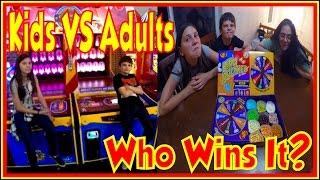💀 Kids VS Adults | Arcade Ticket Off Challenge Winning Arcade Game Tickets Challenges Hawkes Games