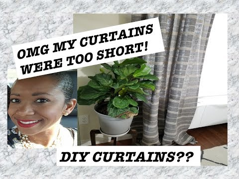 QUICK AND EASY DIY CURTAINS! HOW I EXTENDED MY CURTAINS| DIY MONDAY