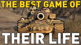 BEST GAME OF THEIR LIFE in World of Tanks!