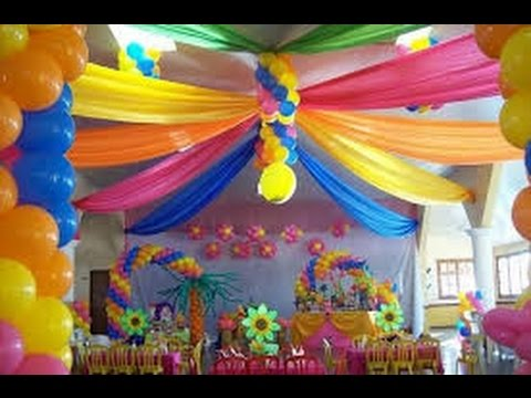 Como decorar con globos youtube for Decoracion con plantas para fiestas