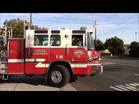 Sacramento Metro Fire District Truck & Medic 65 Responding Code 3 From Station