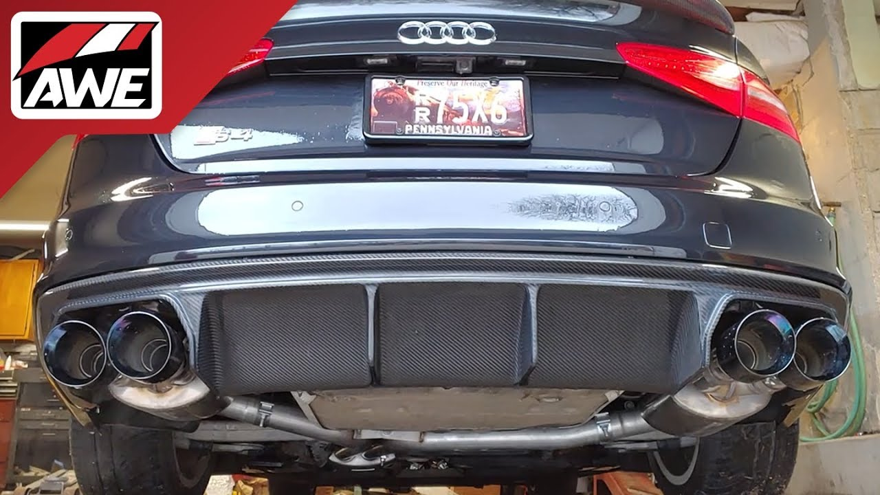#AWEintheWild: Audi B8/8 5 S4 3 0T | Touring Edition Exhaust and  Non-Resonated Downpipes