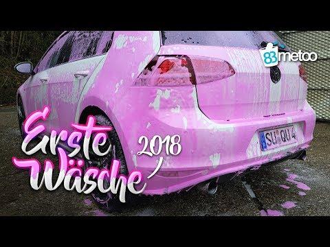 Erste Autowäsche 2018 mit Shiny Garage Monster Wheel Cleaner Plus und Shiny Garage Pink Snow Foam